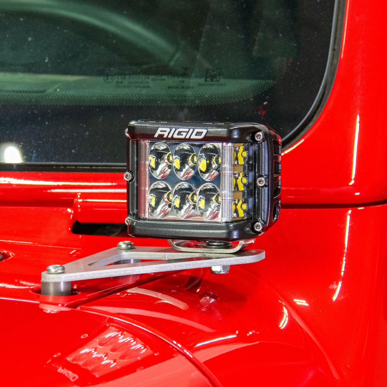 Jeep Wrangler JL /& /'20 EVO MFG A-Pillar Light Mounts for /'18 Gladiator JT